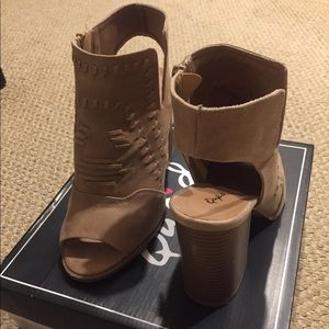 Qupid open-toed and open heeled booties